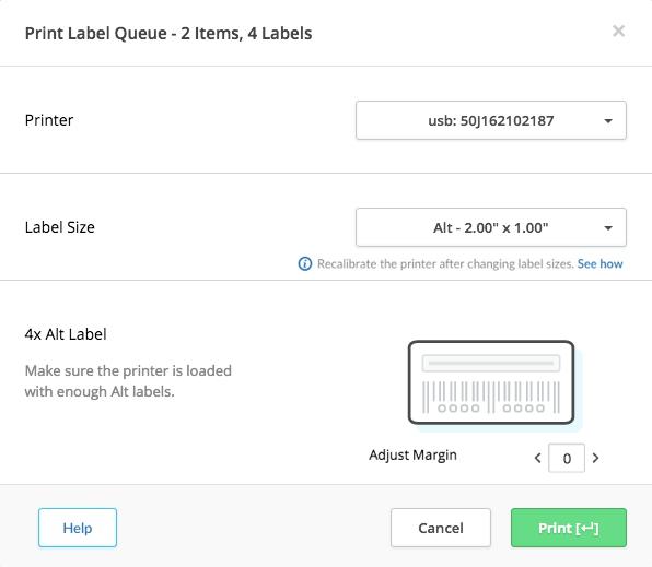 Printing labels – Lightspeed Retail